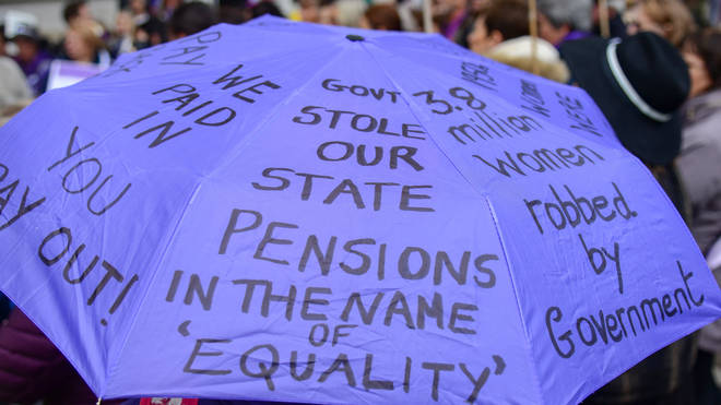 """It follows a lengthy campaign by the """"waspi women"""""""