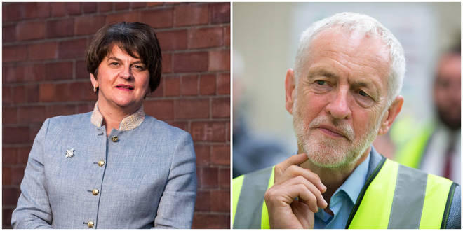 Arlene Foster has indicated she could do a deal with Labour if Corbyn was not leader