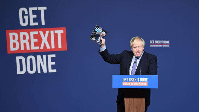 Boris Johnson launched the Tory manifesto in Telford