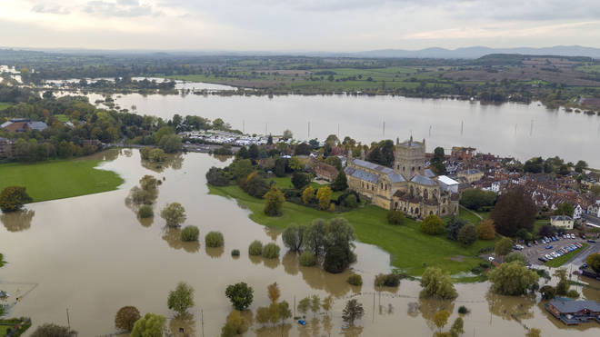 Tewkesbury Abbey was one of the sites heavily impacted by recent floods