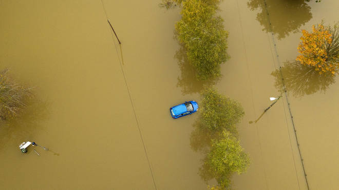 Cars were caught in recent floods