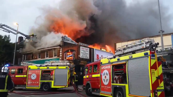 Fire rages at Poundland in Chingford