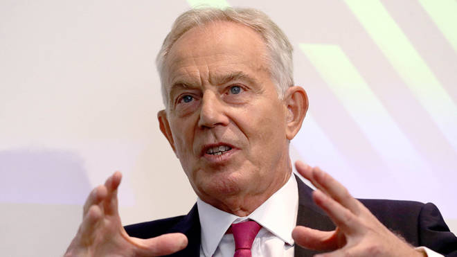 Tony Blair made the remarks at a speech today