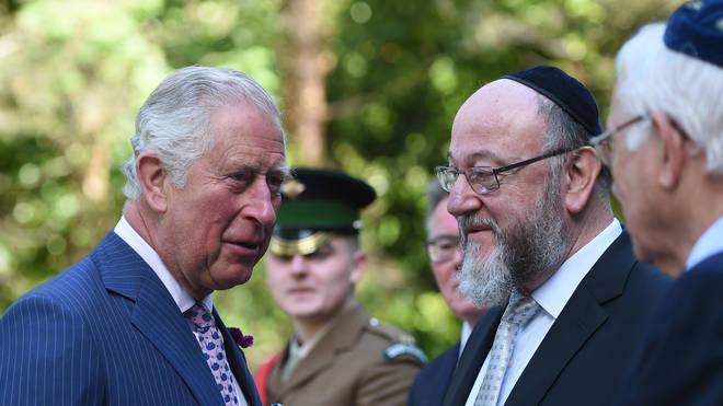 Chief Rabbi Ephraim Mirvis with Charles, Prince of Wales