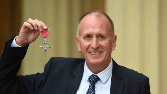 Mr Unsworth was awarded an MBE for his part in the rescue operation