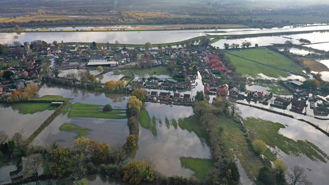 The flooding impacted large parts of Yorkshire