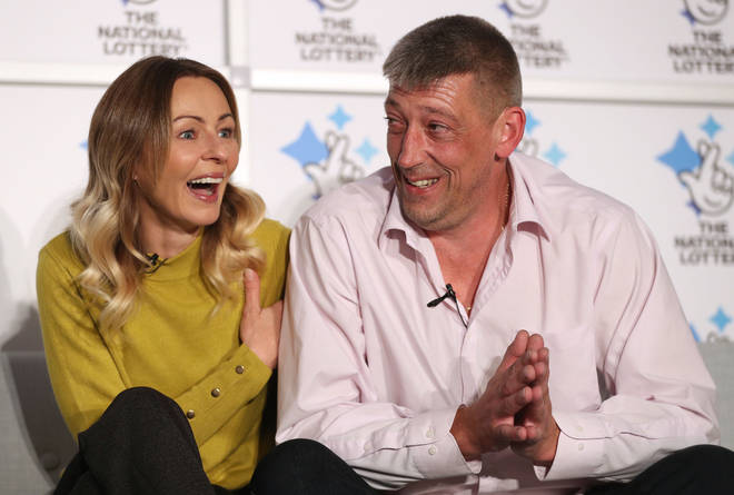Self-employed builder Steve Thomson, 42, and his wife Lenka Thomson, 41 are celebrating their EuroMillions win
