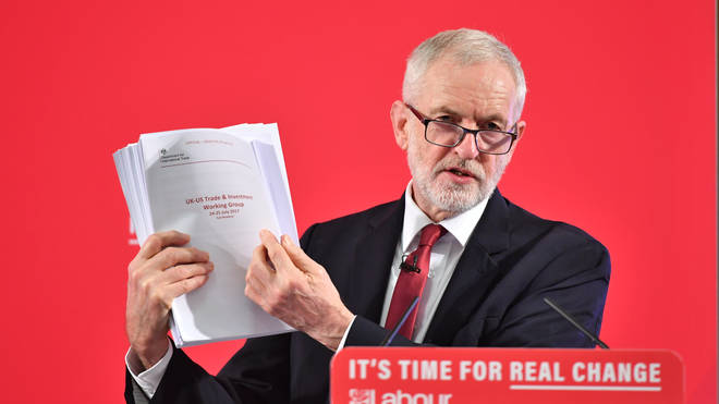 Jeremy Corbyn reveals the unredacted memo
