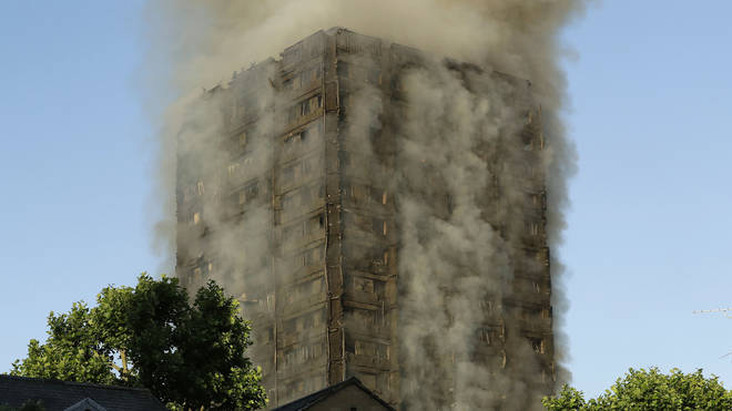 Smoke Rises From Grenfell Tower