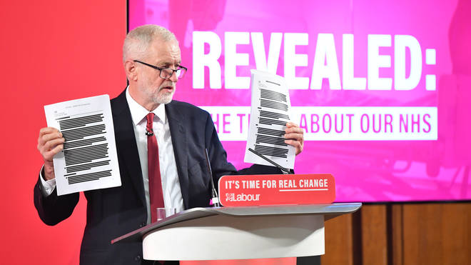 Jeremy Corbyn revealed a series of documents about the NHS
