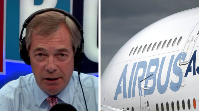 Nigel Farage criticises Airbus for scaremongering.