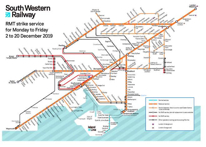 SWR's strike network map