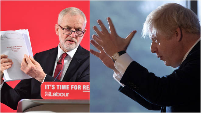 The Tories have hit back at Mr Corbyn's claims