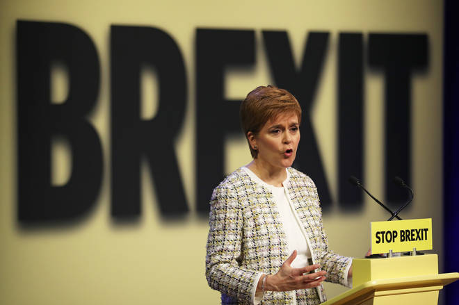 First Minister Nicola Sturgeon at the SNP general election manifesto launch