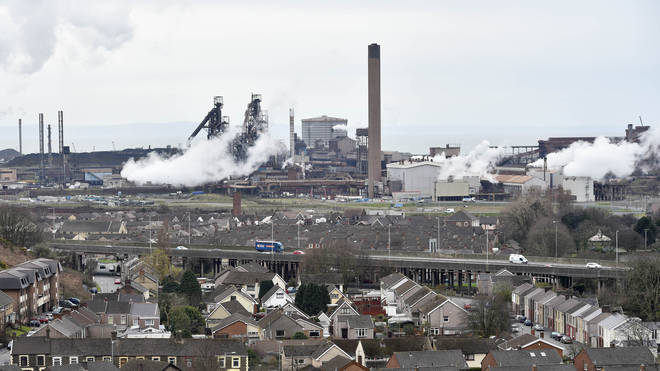 Tata Steel has a plant in Port Talbot, south Wales