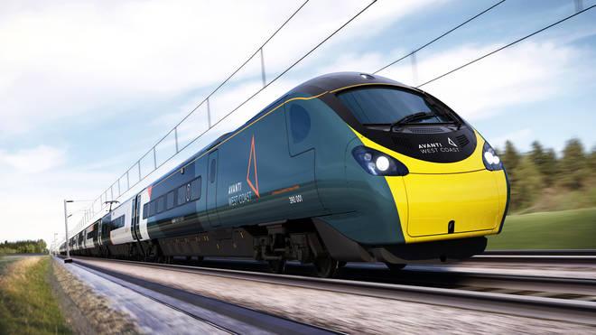 The new Avanti West Coast train livery