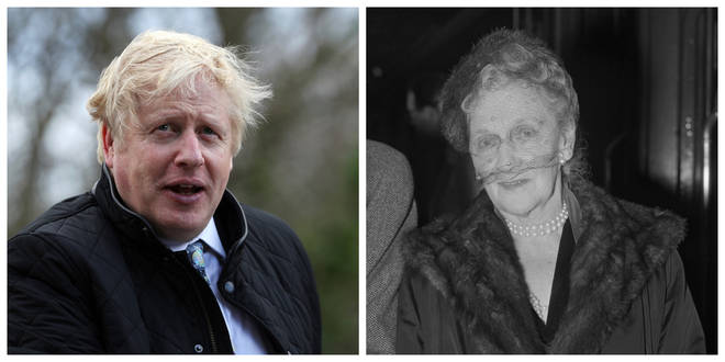 Prime Minister Boris Johnson and Nancy Astor