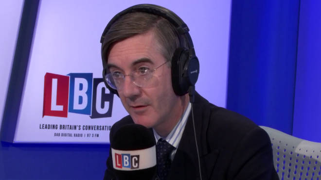 Jacob Rees-Mogg was on fiery form on LBC