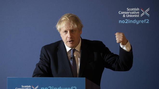 Boris Johnson unveils his Scottish manifesto