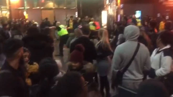 Violence broke out at a screening of the film in Birmingham