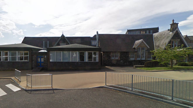 A fire has broken out at Peebles High School in Scotland