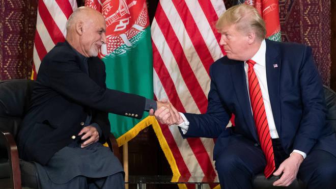 President Trump and Afghan President Ashraf Ghani