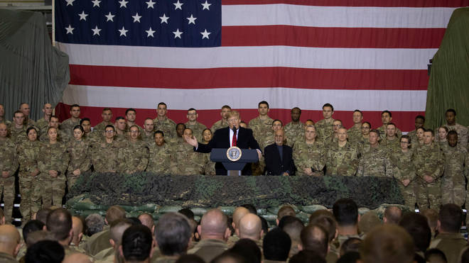 The President addresses US troops in Afghanistan