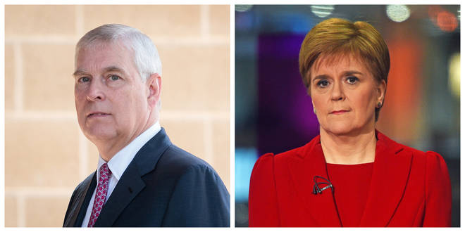 Prince Andrew and First Minister Nicola Sturgeon
