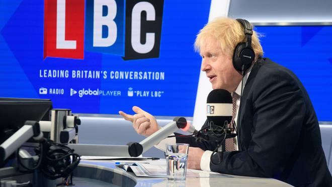 Boris Johnson live on LBC