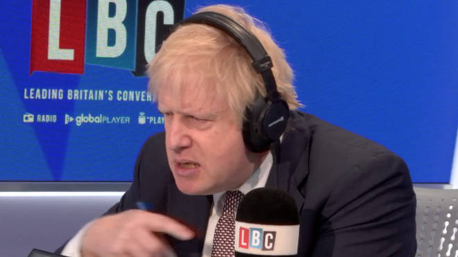 Boris Johnson mimics Nick Ferrari