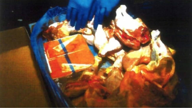 Millions of pounds of drugs were smuggled in chicken.