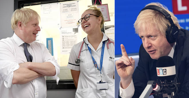 Boris Johnson tried to clarify his remarks on nurses