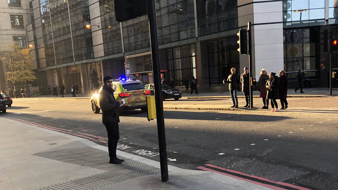 One onlooker caught the incident at London Bridge