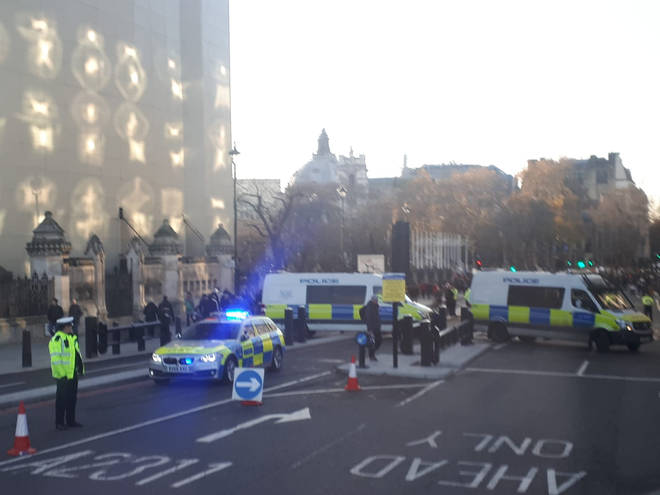 Police at the scene at London Bridge